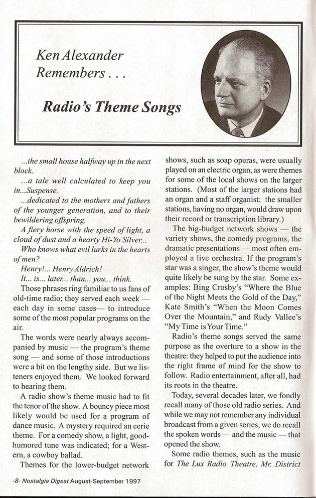 Radio's Theme Songs