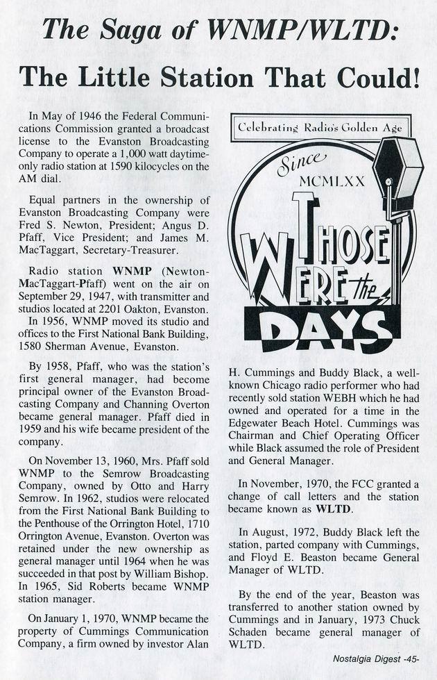 Saga of WNMP-WLTD 1
