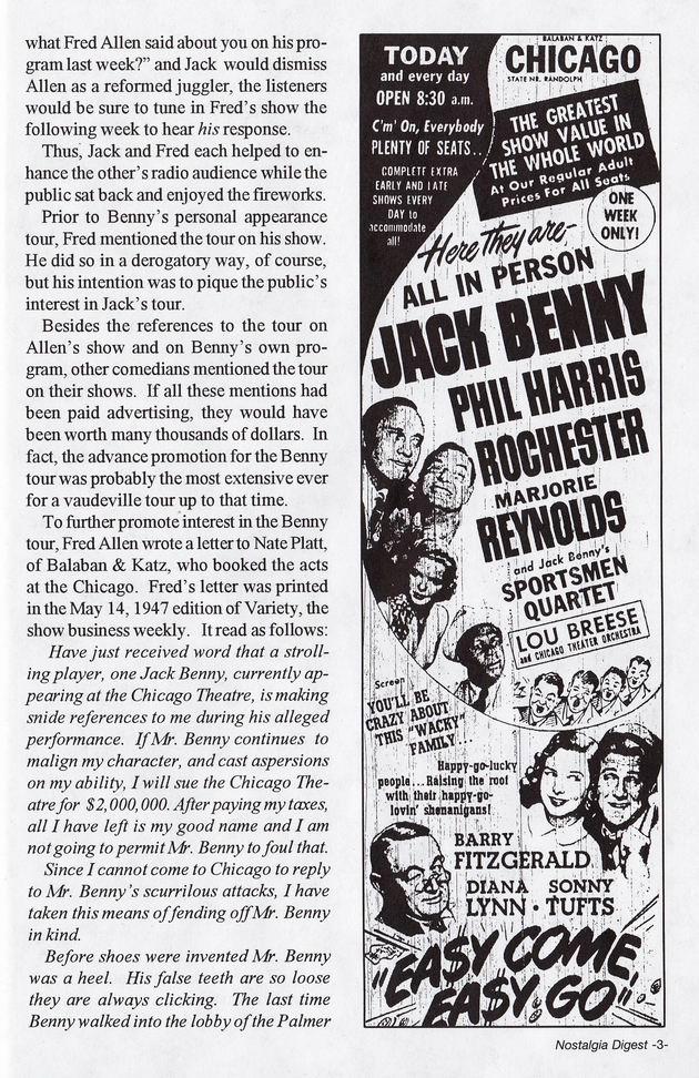 Jack Benny on Tour 2