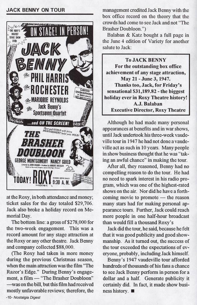 Jack Benny on Tour 9