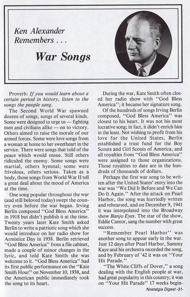 War Songs 01